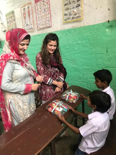 Inauguration by Mrs. Shaheena Abbasi (wife of chief of naval staff) school for the accelerated learning program for street children.